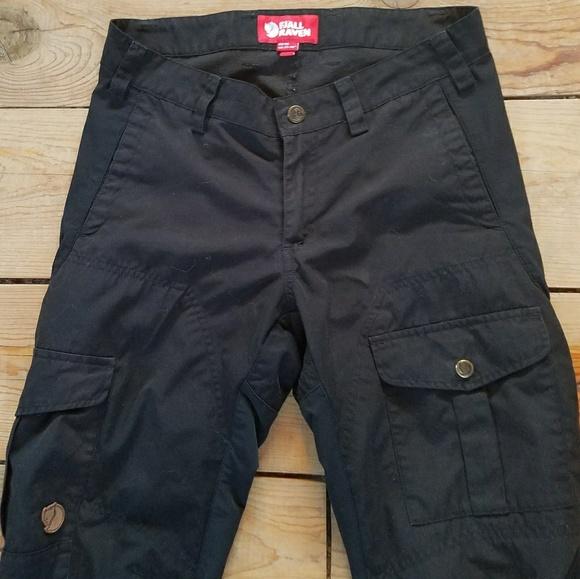 purchase cheap b8679 90f83 Fjallraven G-1000 Alta Black Cargo Travel Pants 36